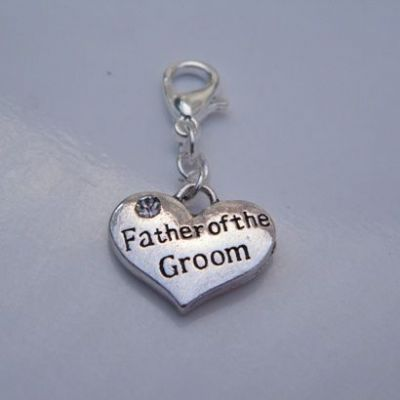 Father Of The Groom Clip On Charm